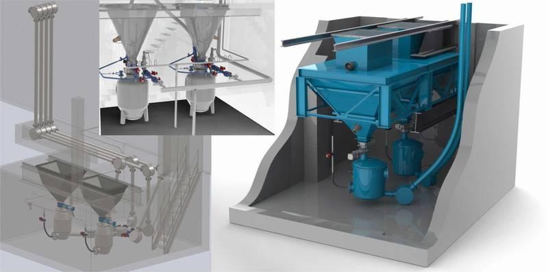Примеры проектирования приемного устройства цемента специалистами ГК «Элтикон»